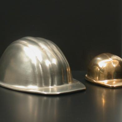 Inauguration helmets casted in plexi