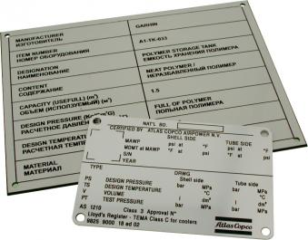 Identification panels / tag plates