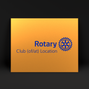 Rotary club plate in aluminium