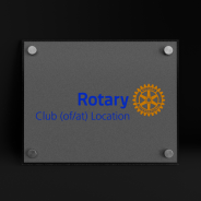 Rotary plaque de club en plexi