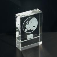 Laser engraved 3D crystal